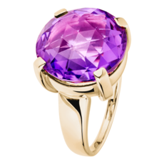 Rocks Cocktailring lila Amethyst