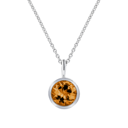 Pendant Bezel Setting with a Madeira Citrine
