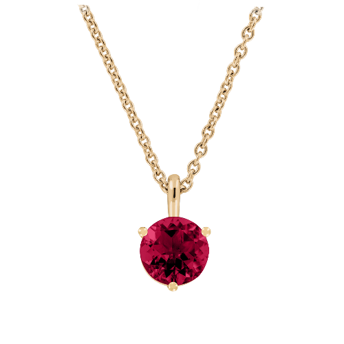 Pendant 3-Prong Setting with a Ruby