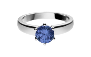 Gemstone Ring Malmö Tanzanite blue in White Gold