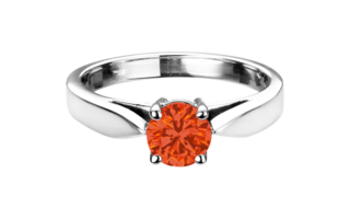 Gemstone Ring Vancouver Fire Opal orange in White Gold