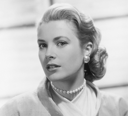RENÉSIM Grace Earrings – portrait of Grace Kelly
