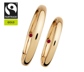 RENÉSIM Wedding Rings with Emeralds – Fairtrade Gold