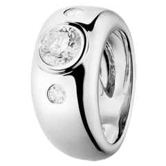 Anello di diamanti – cerchio largo