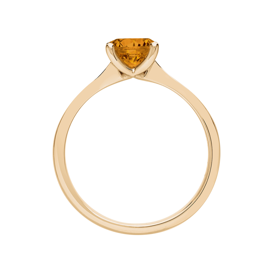 Basel Madeira Citrine orange in Rose Gold