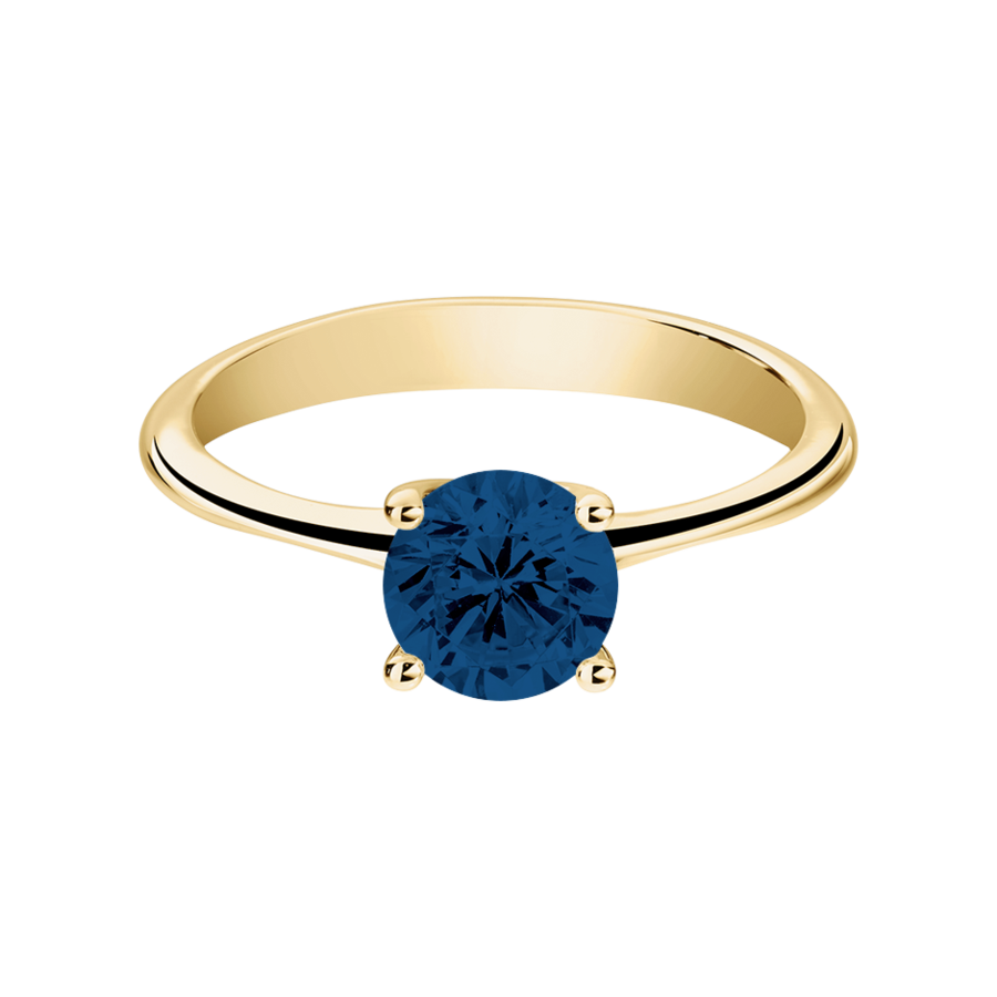 Basel Sapphire blue in Yellow Gold