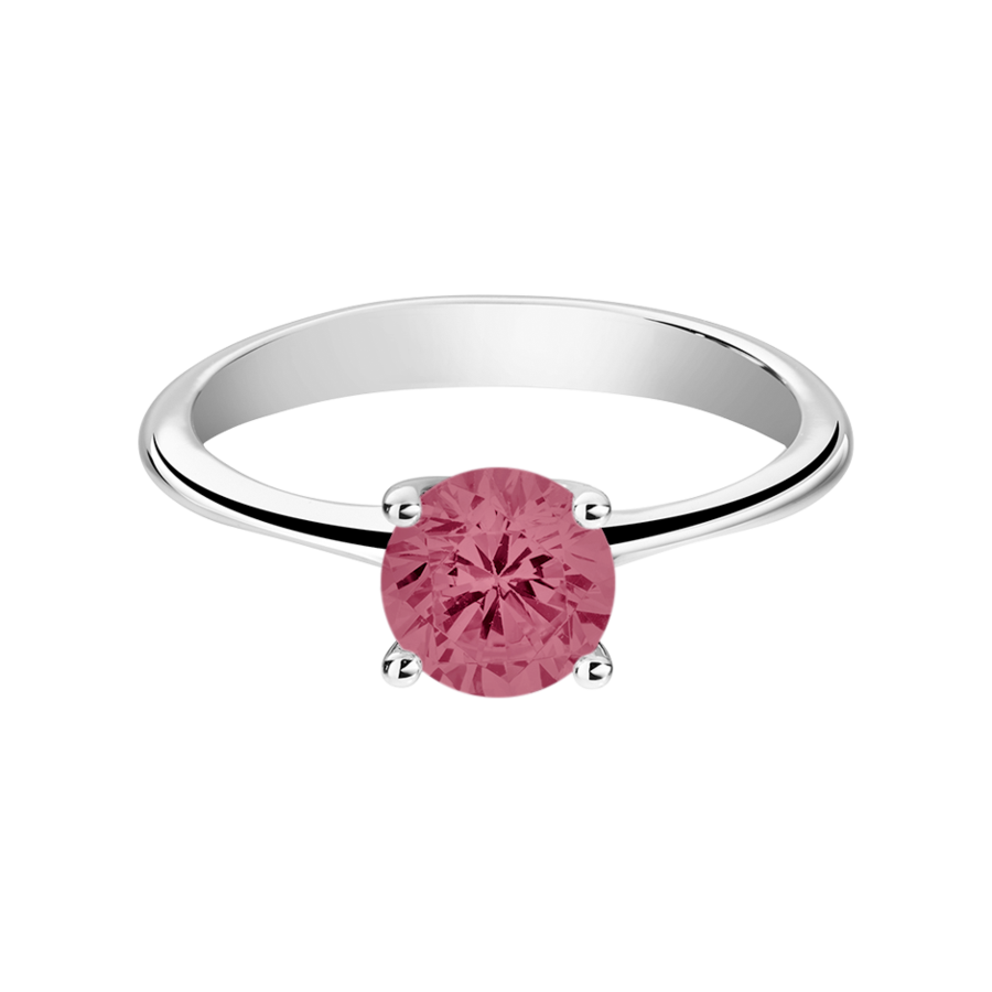 Basel Tourmaline pink in White Gold
