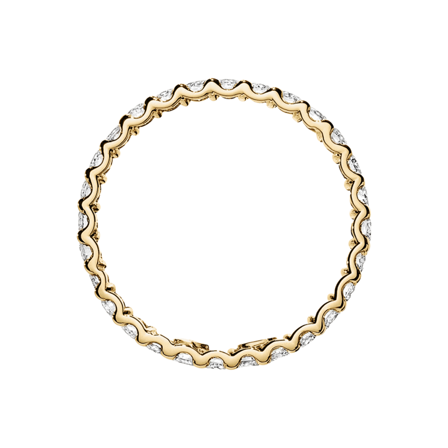 Eternity Ring Hamburg H SI in Yellow Gold