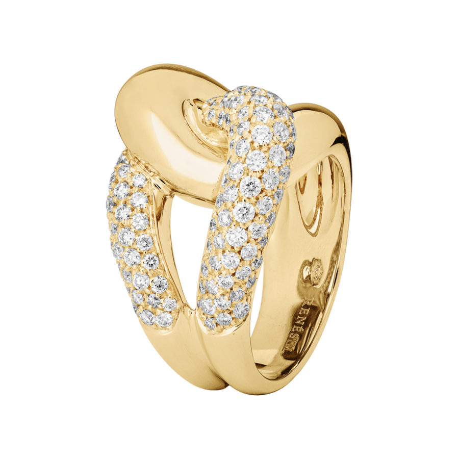 Knot Ring Classics with Diamonds in Yellow Gold