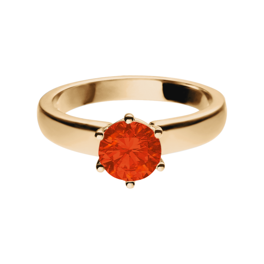 Malmö Fire Opal orange in Rose Gold