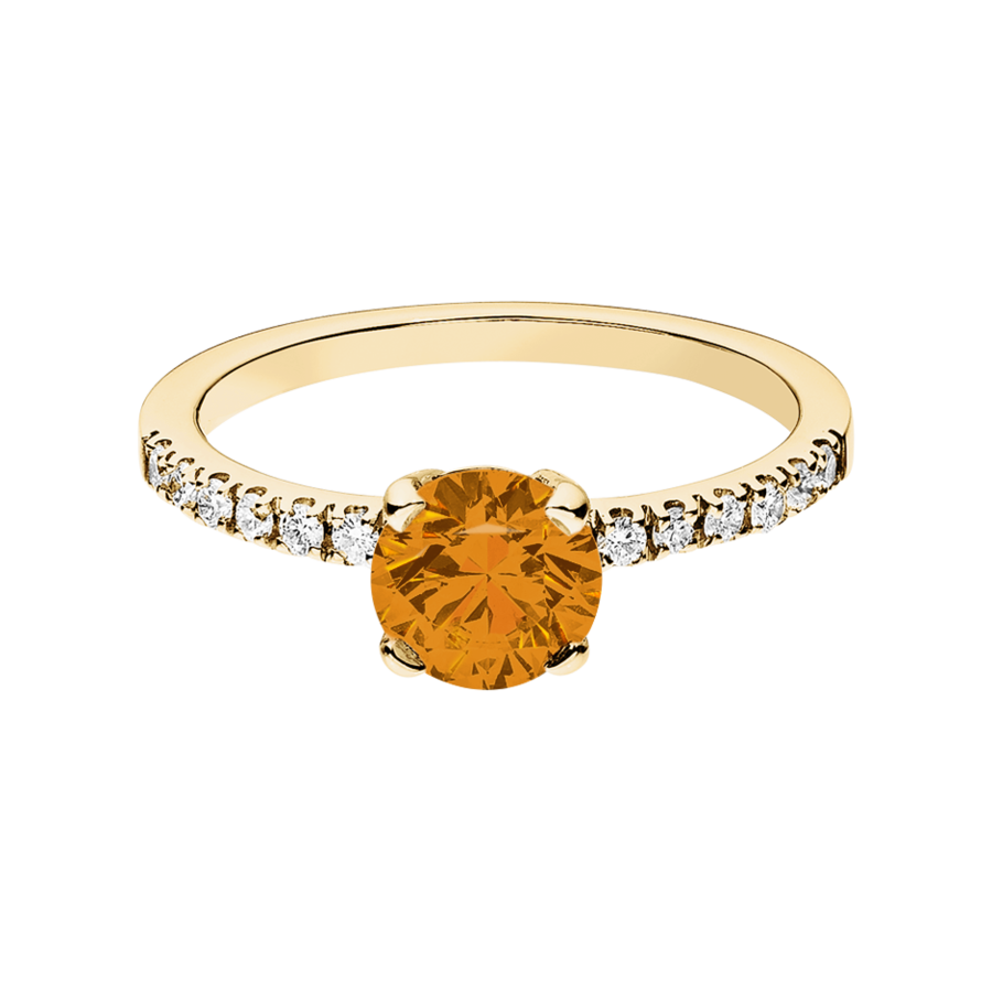Melbourne Madeira Citrin orange in Gelbgold