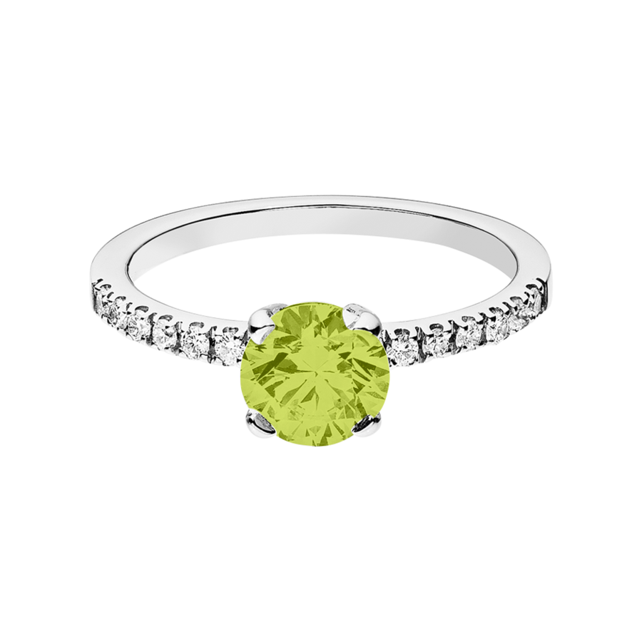 Melbourne Peridot green in Platinum