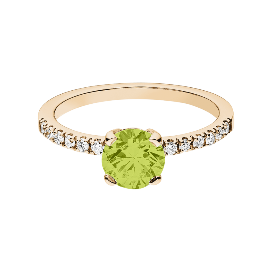 Melbourne Peridot green in Rose Gold