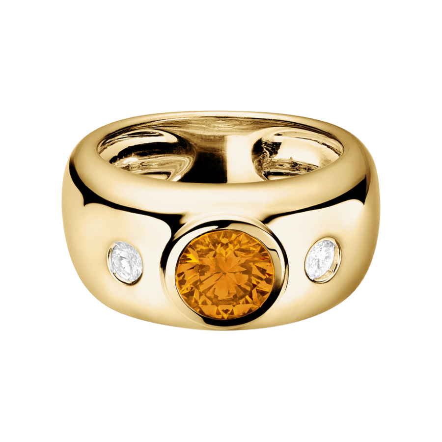 Naples Madeira Citrin orange in Gelbgold