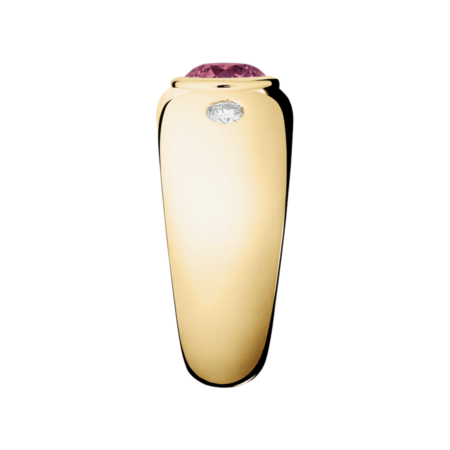 Naples Tourmaline pink in Yellow Gold