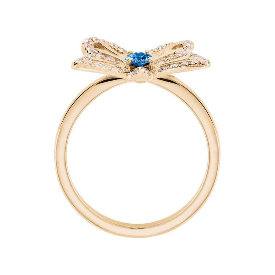 Papillon Ring Aquamarin in Roségold