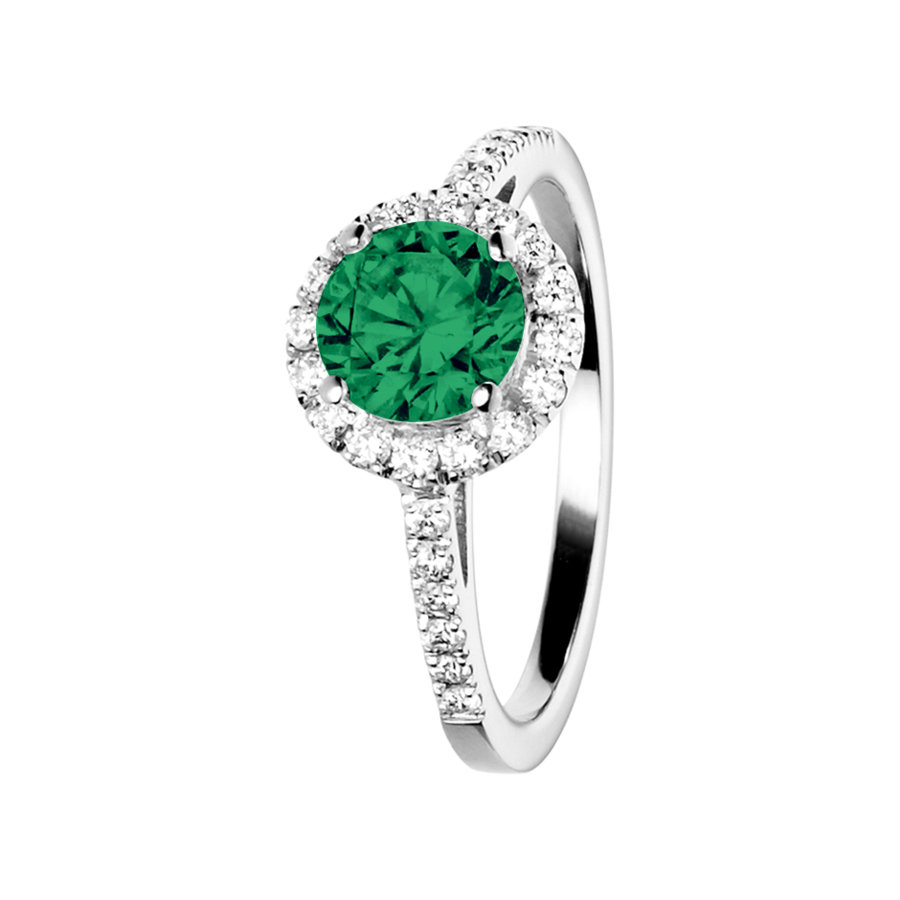 Prague Emerald green in Platinum