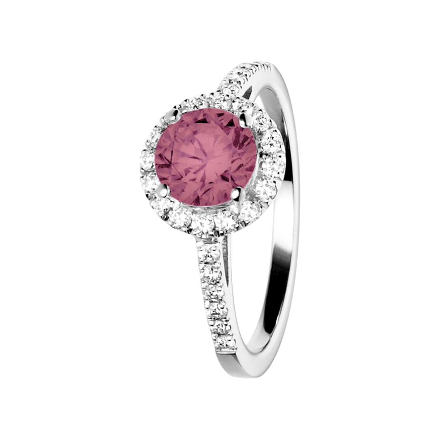 Prague Tourmaline pink in Platinum