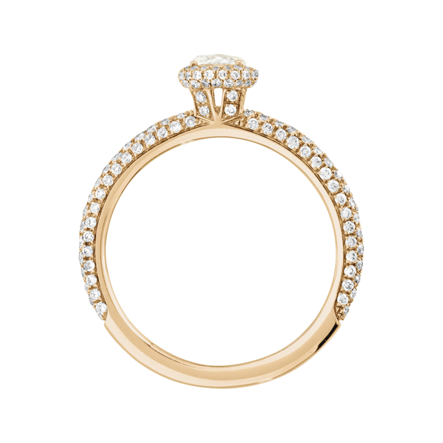Ring Romance Pavé in Roségold