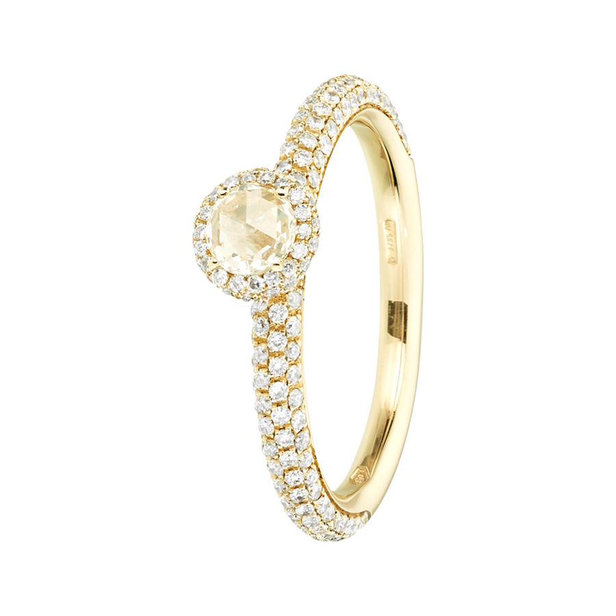 Ring Romance Pavé in Yellow Gold