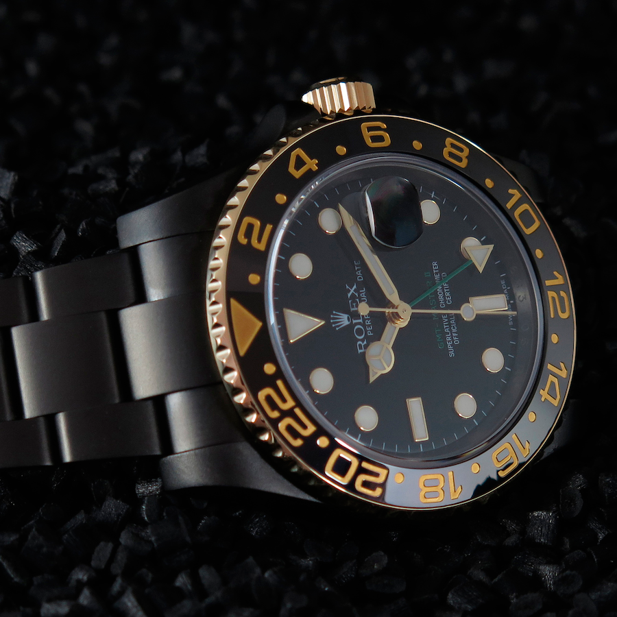 Rolex GMT Master II Gold Individual in Oyster Casing