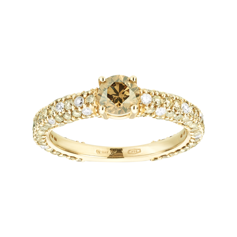 Romance Ring Brilliance in Yellow Gold