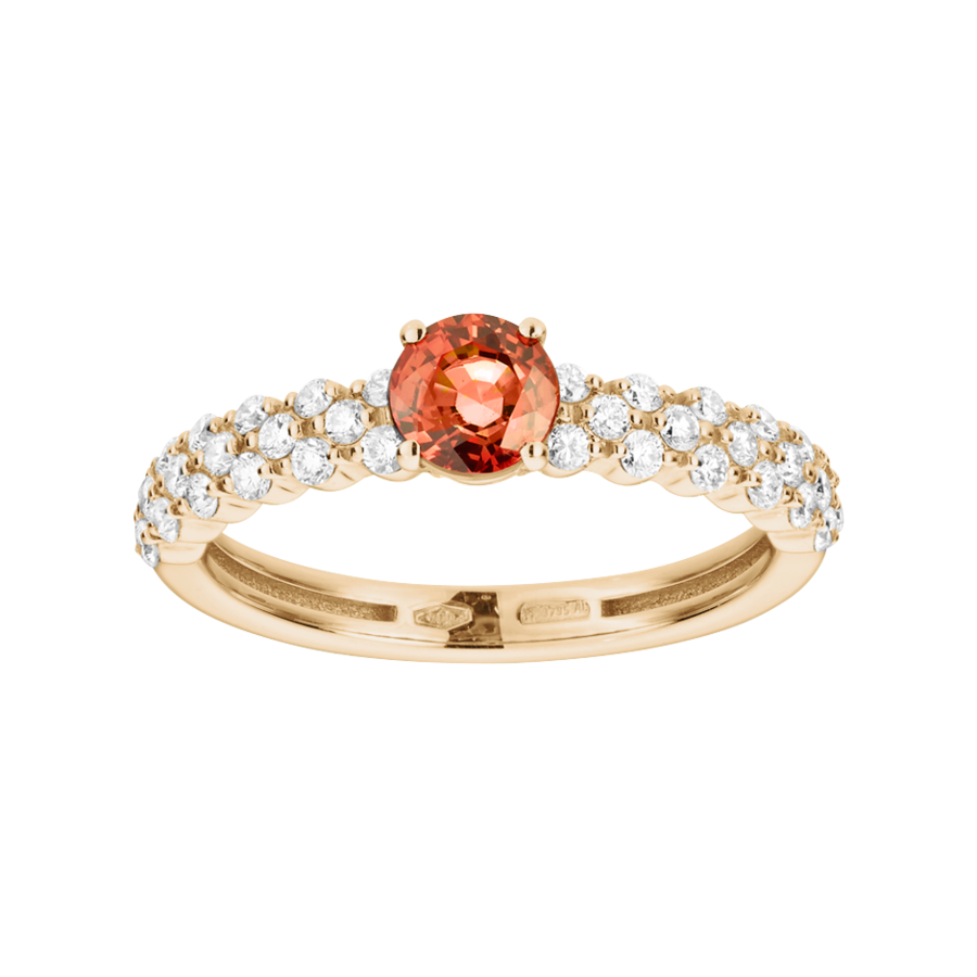 Romance Ring Triple in Rose Gold