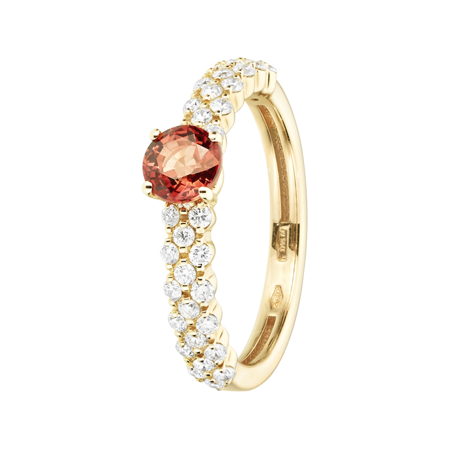 Romance Ring Triple in Yellow Gold
