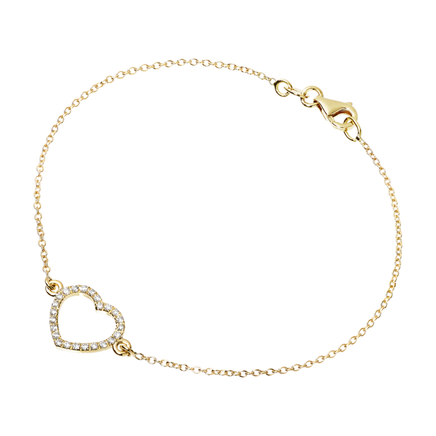 Enchanté Bracelet Heart in Yellow Gold