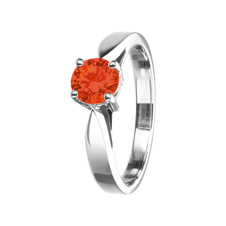 Vancouver Fire Opal orange in Platinum
