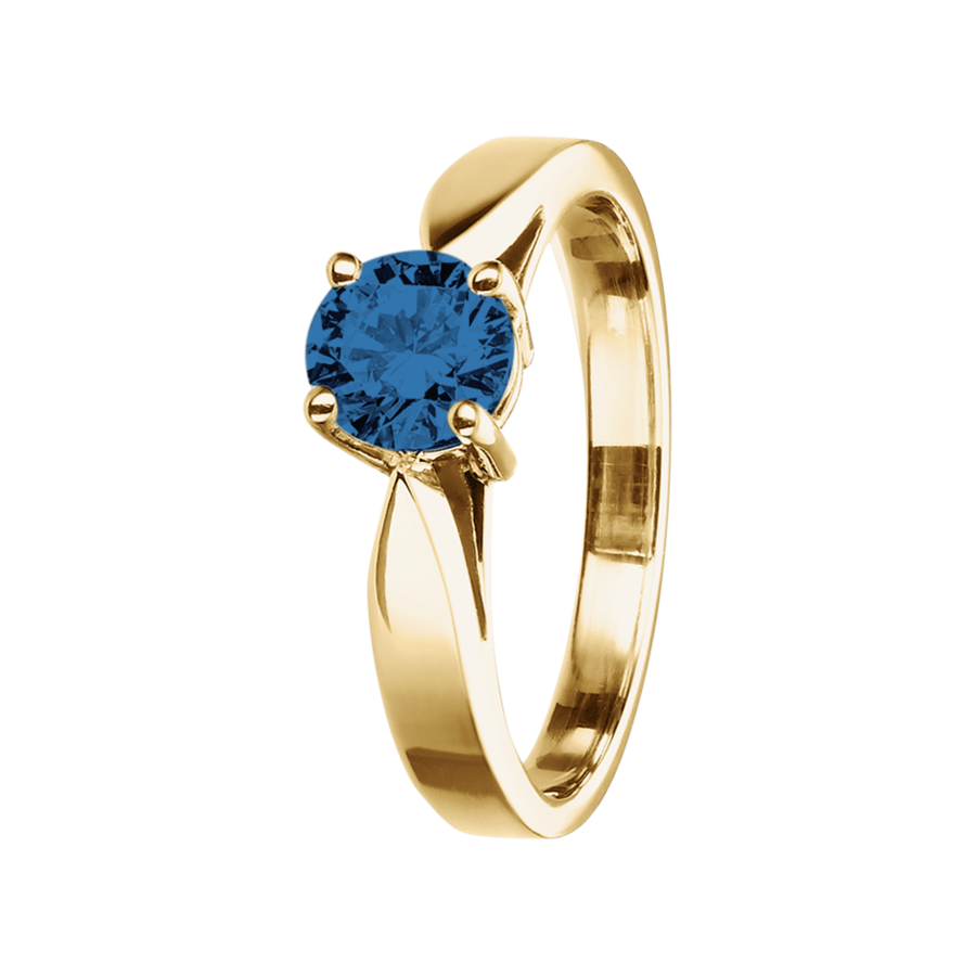 Vancouver Sapphire blue in Yellow Gold