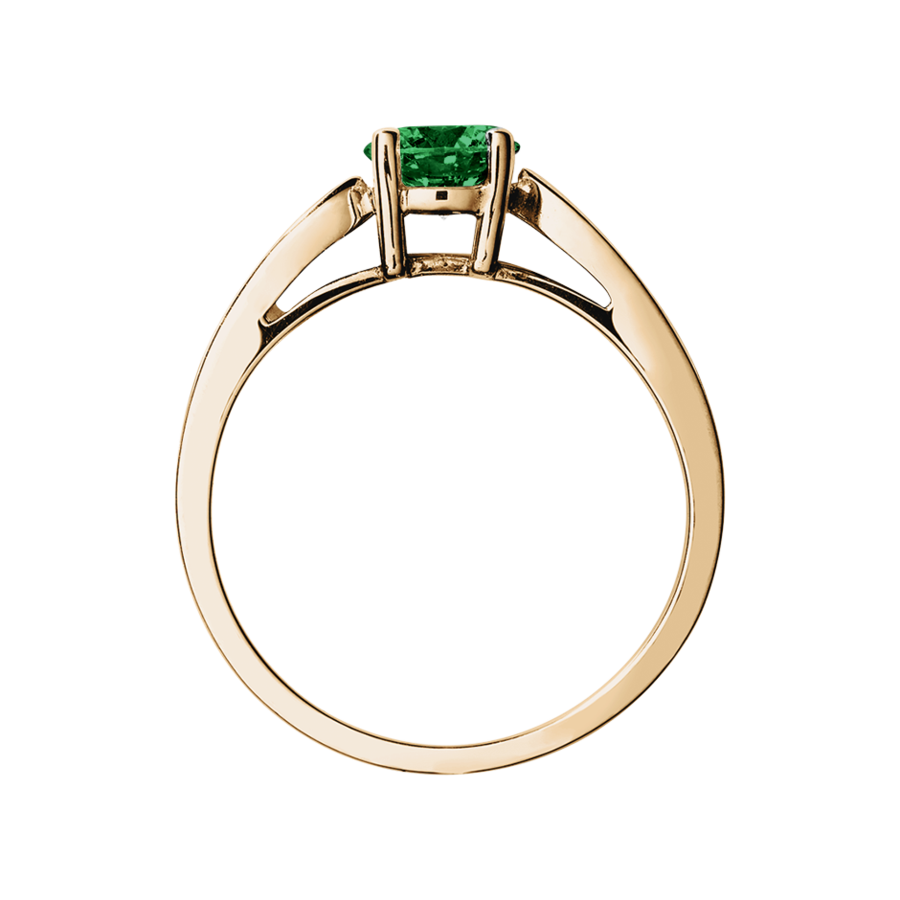 Vancouver Tourmaline green in Rose Gold