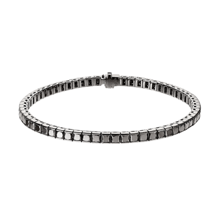 Black Diamond Bracelet in Weißgold