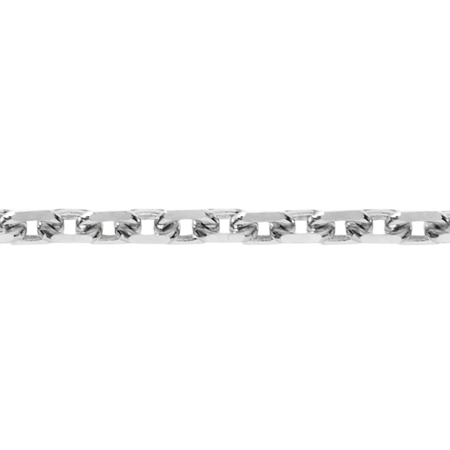 Anchor Chain Diamond Cut in White Gold