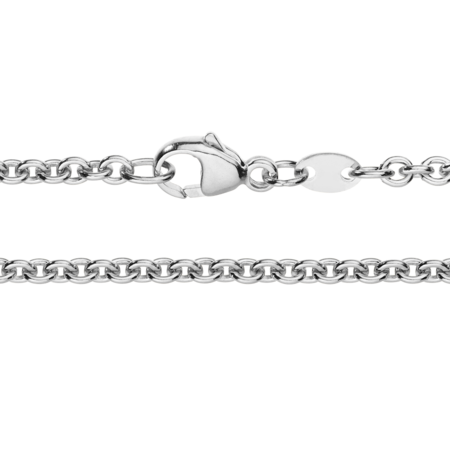 Anchor Chain Necklace in White Gold
