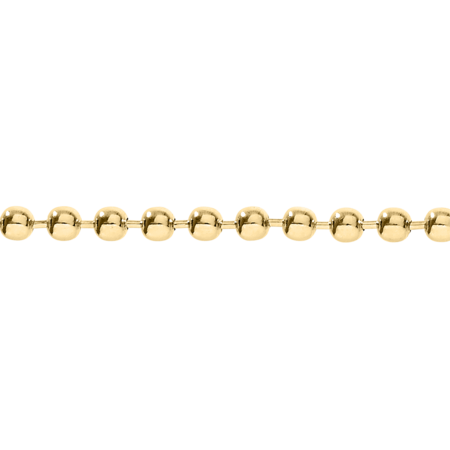Ball Chain Necklace in Yellow Gold