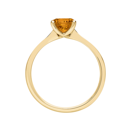 Basel Madeira Citrine orange in Yellow Gold