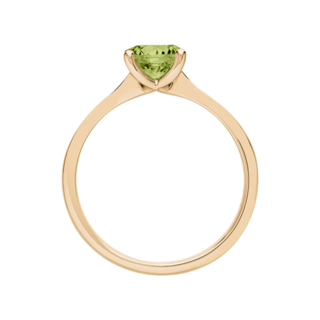 Basel Peridot green in Rose Gold