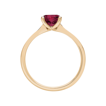 Basel Rhodolite red in Rose Gold