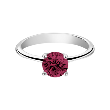 Basel Rhodolite red in White Gold