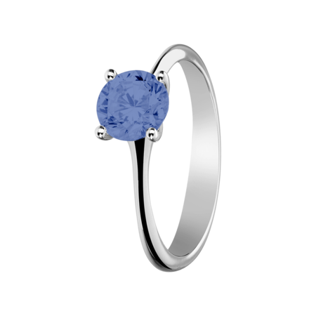 Basel Tanzanite blue in White Gold