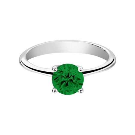 Basel Tourmaline green in White Gold