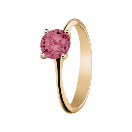 Basel Tourmaline pink in Rose Gold