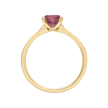 Basel Tourmaline pink in Yellow Gold