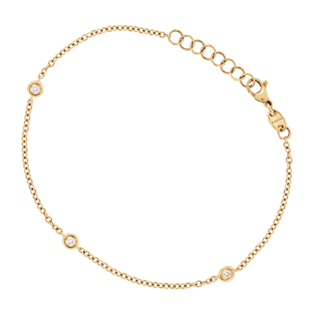 Bracelet Circuit 0.07 carat in Yellow Gold