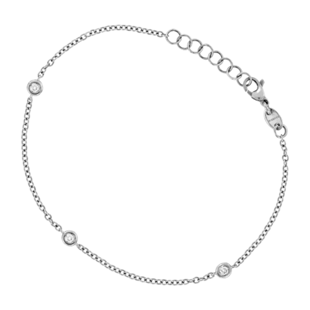 Bracelet Circuit 0.10 carat in White Gold