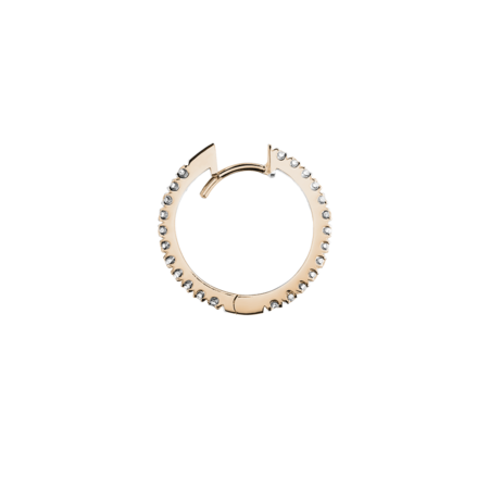 Diamond Hoop Earrings I in Rose Gold