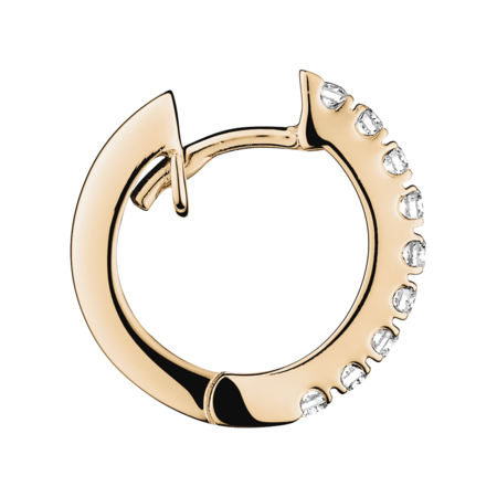 Diamond Hoop Earrings VIII in Rose Gold