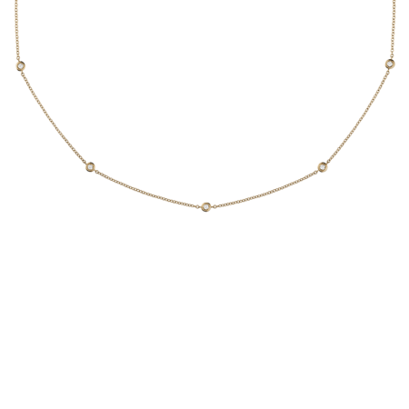 Diamond Necklace Circuit 0.03 carat in Rose Gold