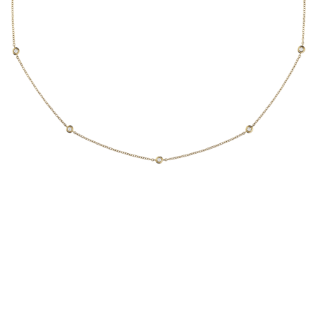 Diamond Necklace Circuit 0.03 carat in Yellow Gold
